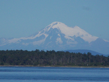 Beautiful Mount Baker viewed from all over Victoria
