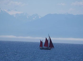 Spectacular views of Juan de Fuca Strait